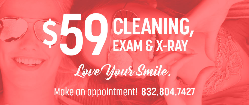 teeth cleaning, exam, and x-ray special offers