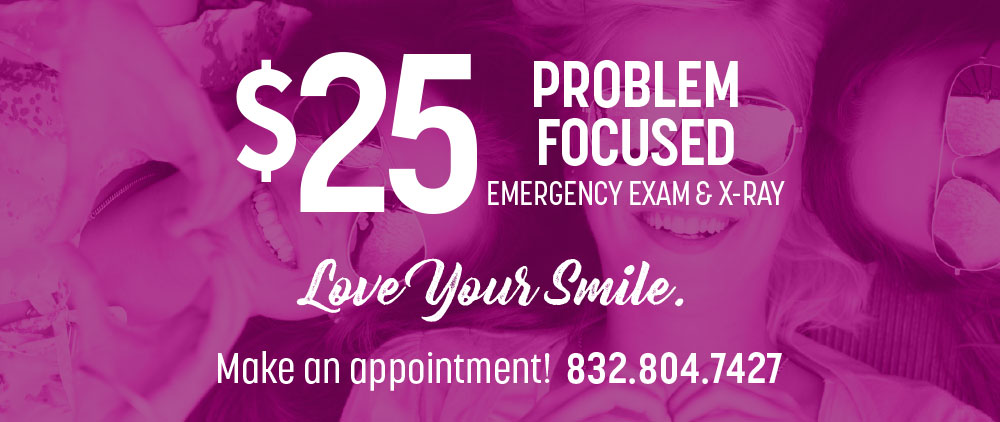 emergency exam, x ray, and dental special offers